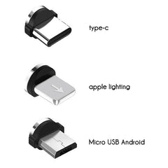 LED Magnetisches USB Ladekabel (Lightning/Micro USB/Type C 3 in 1)