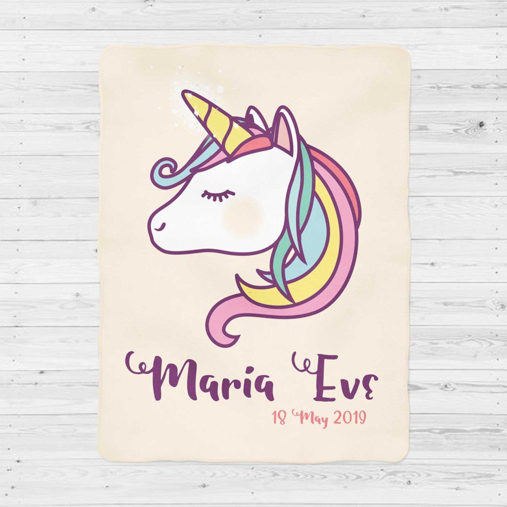 Custom UNICORN Name Blankets VIII