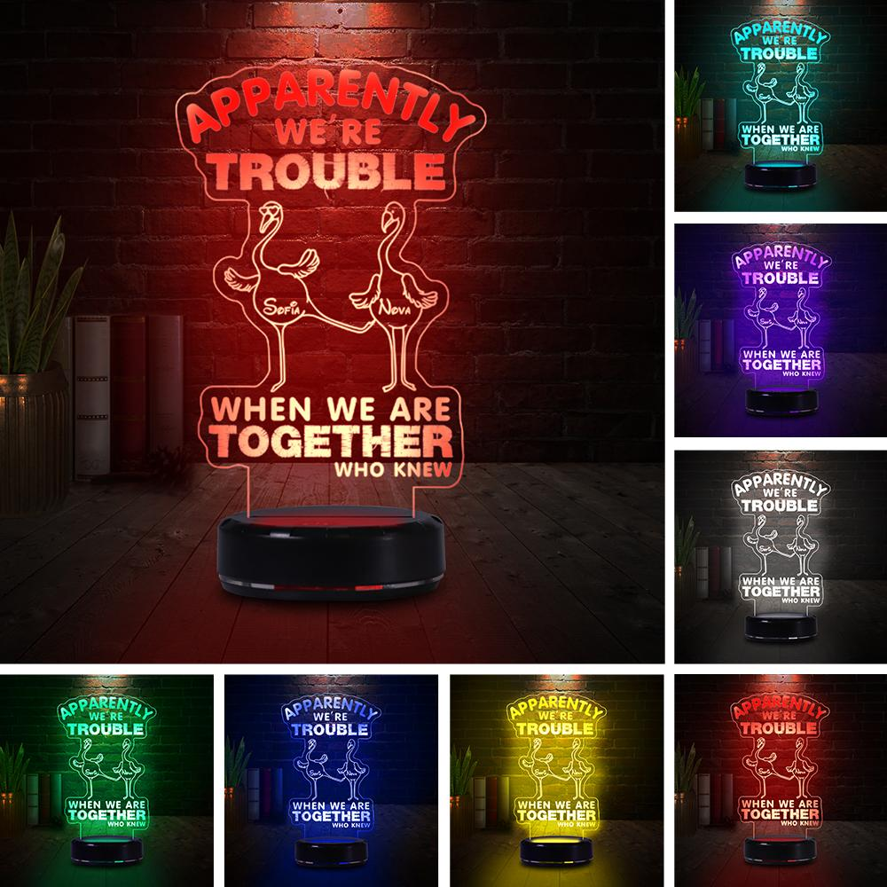 Custom Night Lights for Best Friends / Personalized Friend Lamps
