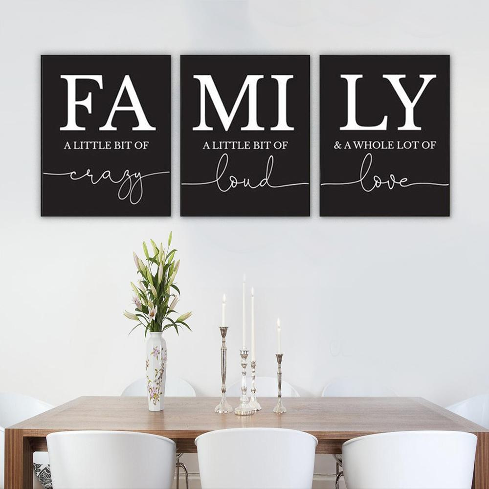 FAMILY Canvas Art Set IV