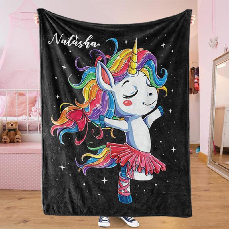 Custom UNICORN Name Blankets VII