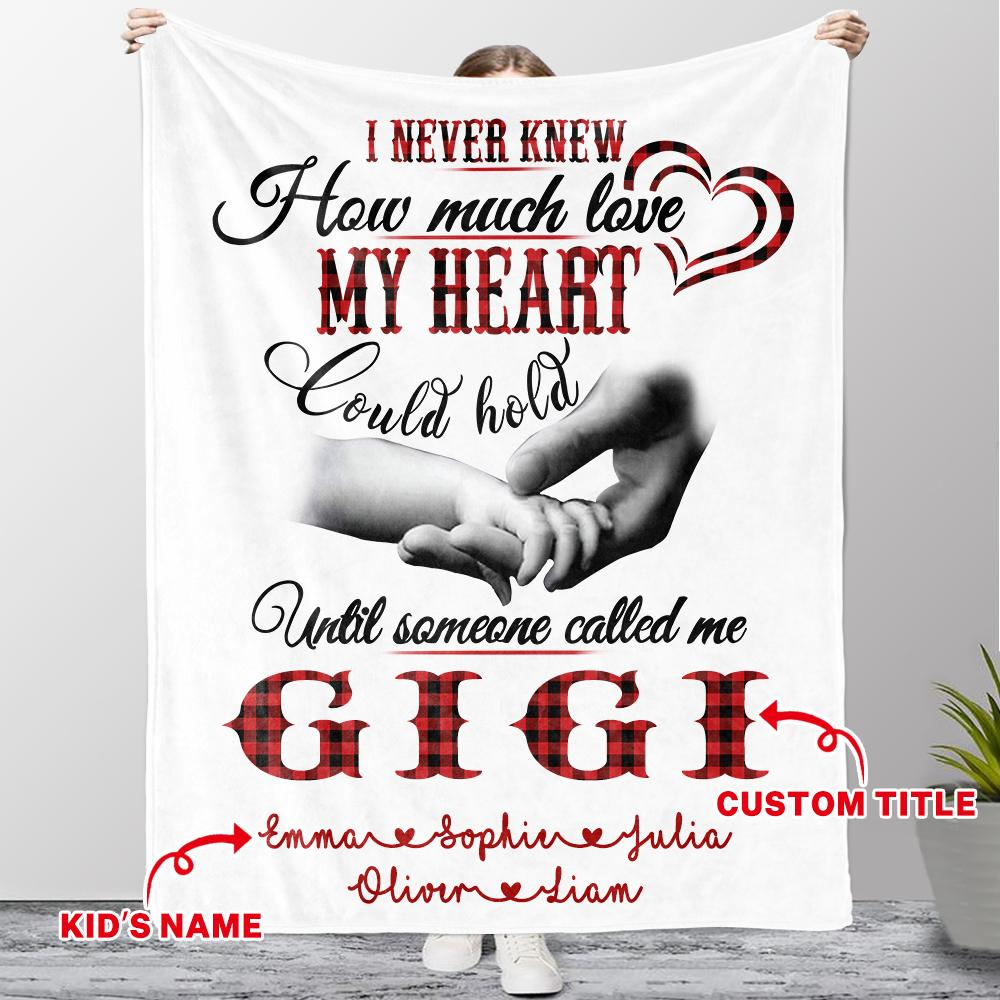 Customized Grandparent Blanket with Grandkids' Names
