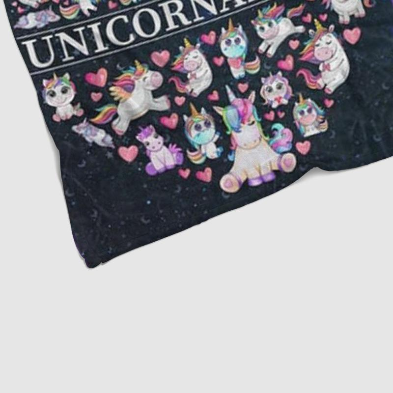 Custom UNICORN Name Blankets