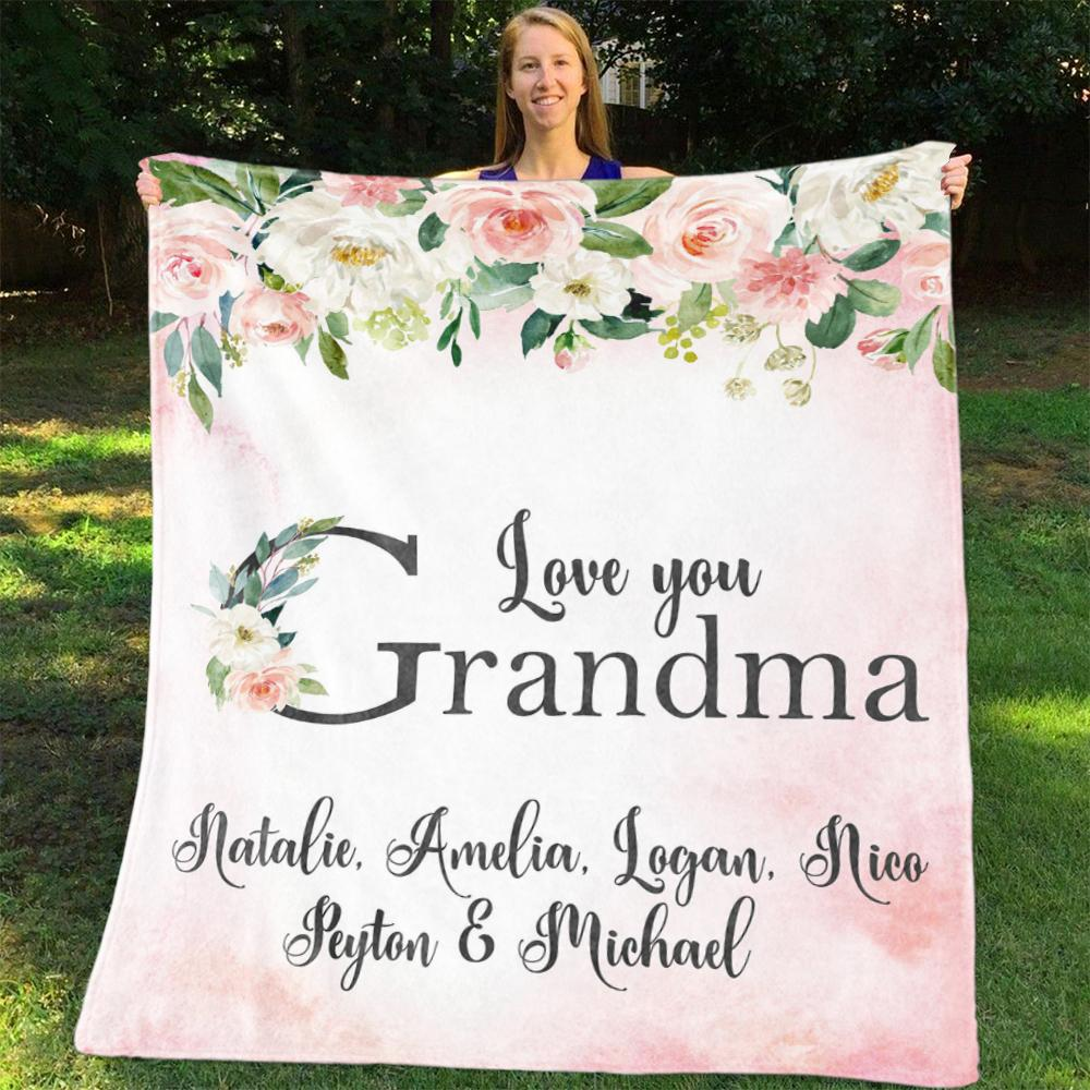 Custom BLANKET with Nickname & Kids Names 04