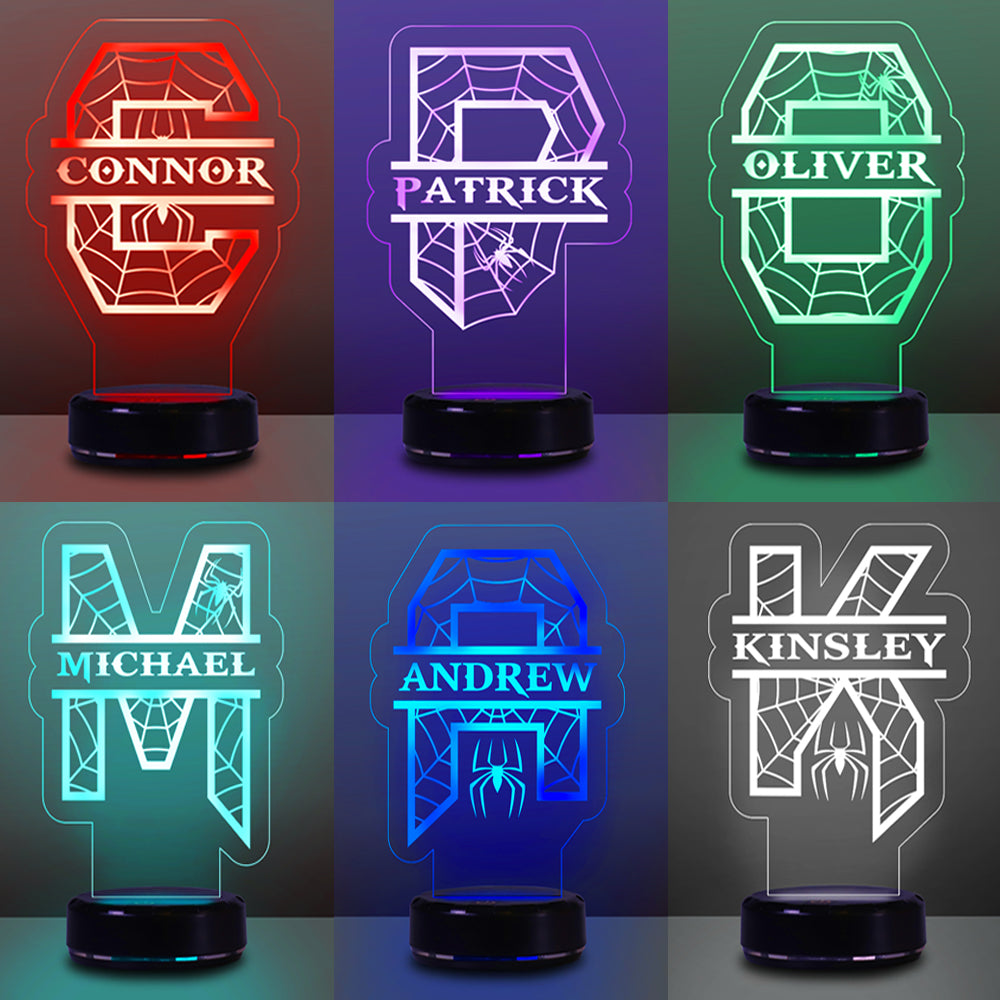 Custom Initial & Name Children's Night Light - 7 Colors 3D Night Light