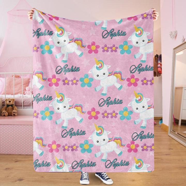 Custom UNICORN Name Blankets II