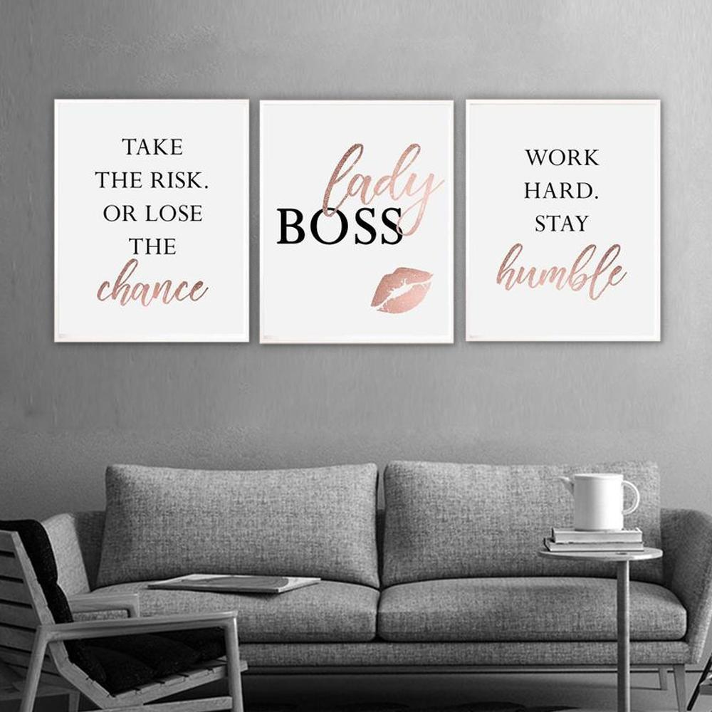 FAMILY Canvas Art Set VIII, LADY BOSS Canvas Print
