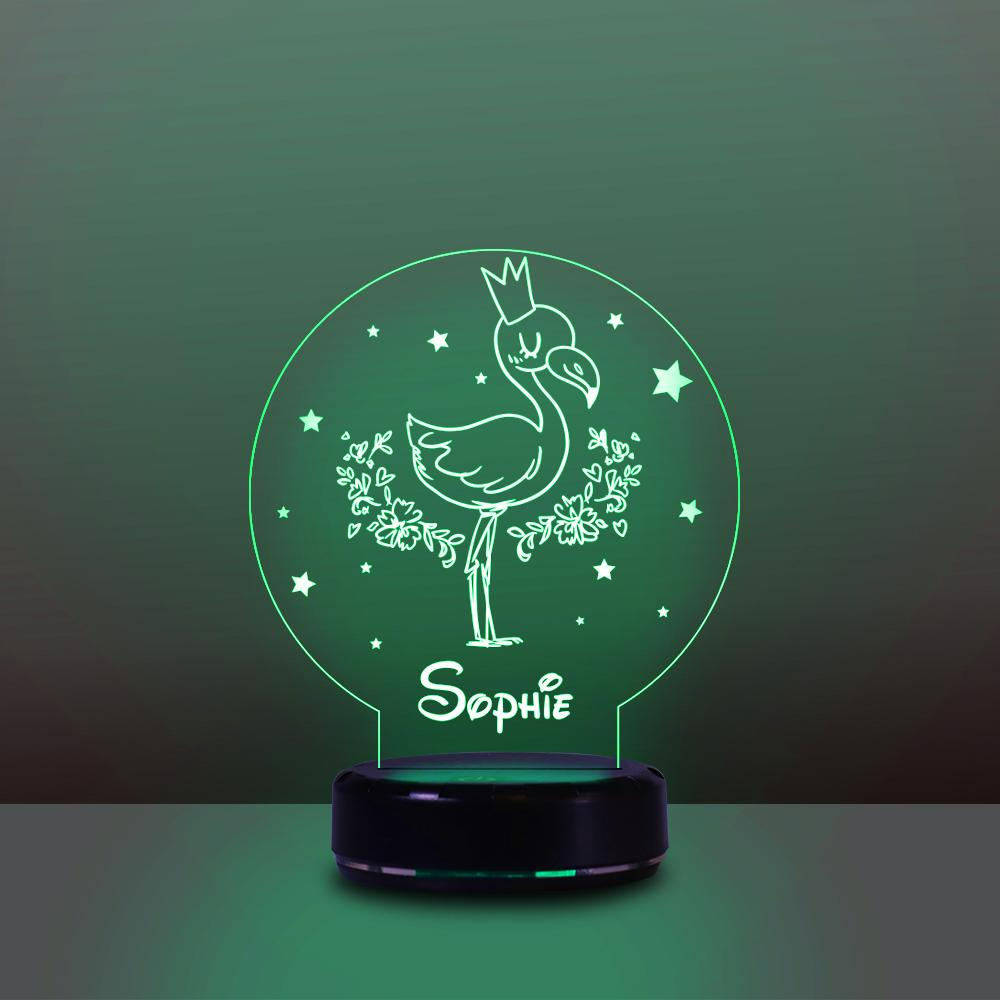 Personalized Name Night Lights for Kids Sweet Dream Flamingo