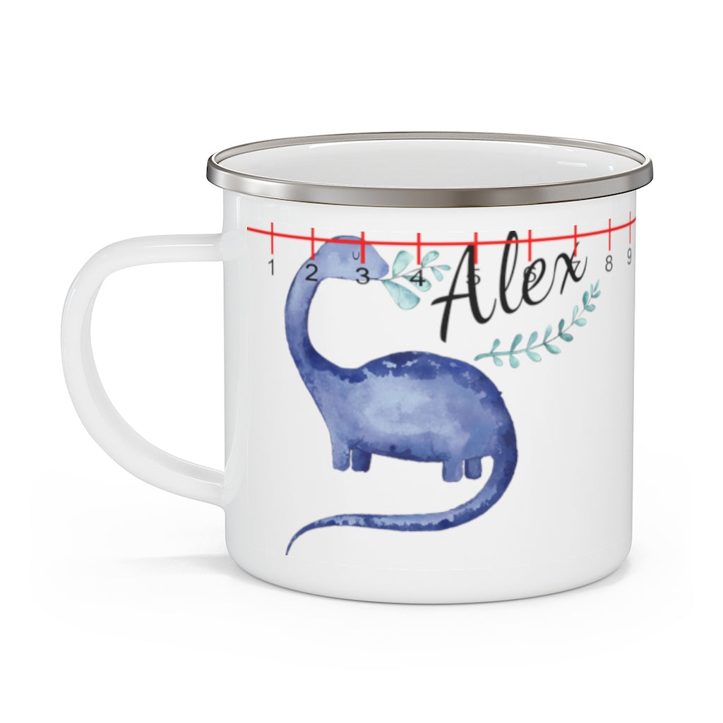 Custom Name Dinosaur Children's Enamel Campfire Mug Ⅶ