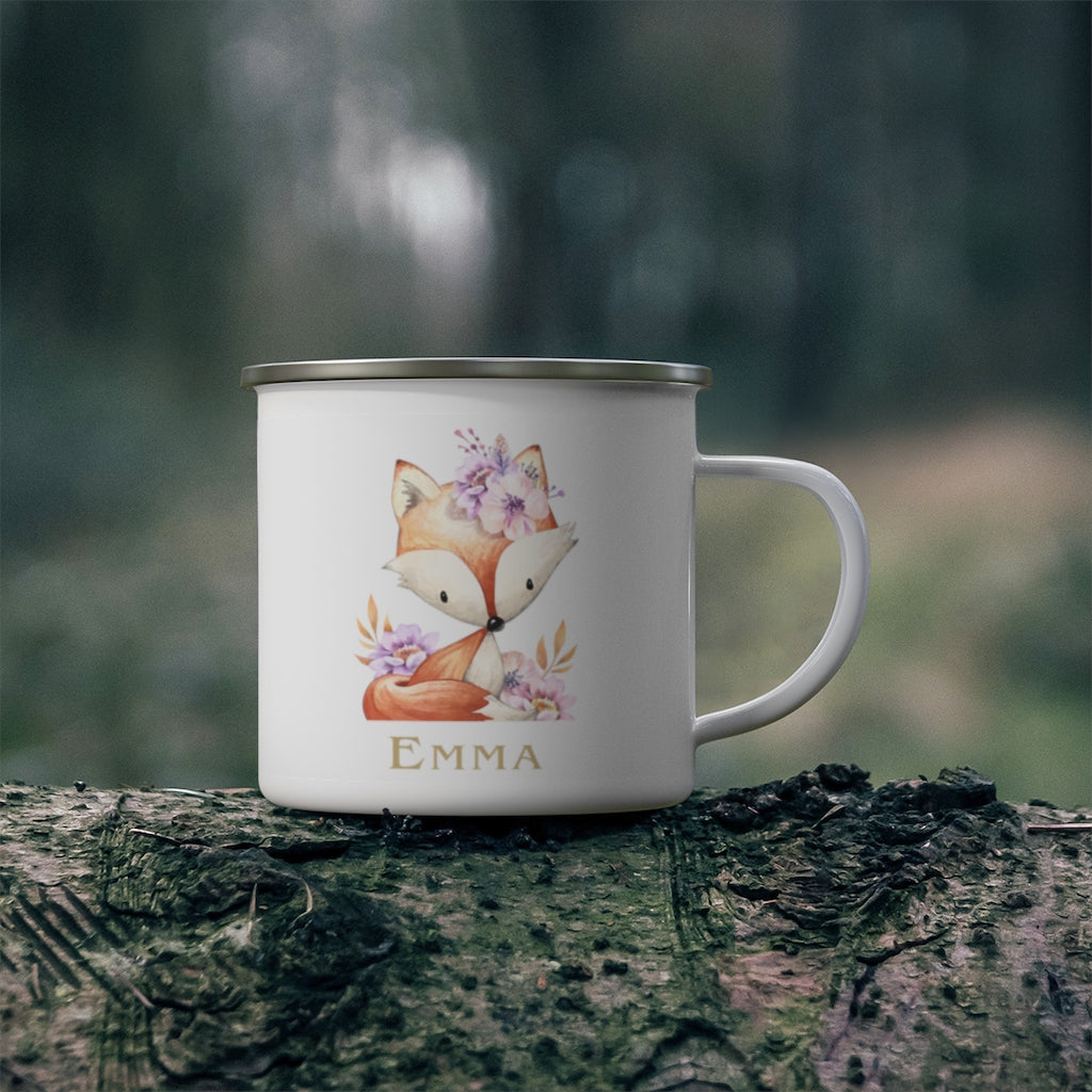Custom Name Animal Enamel Campfire Mug XII