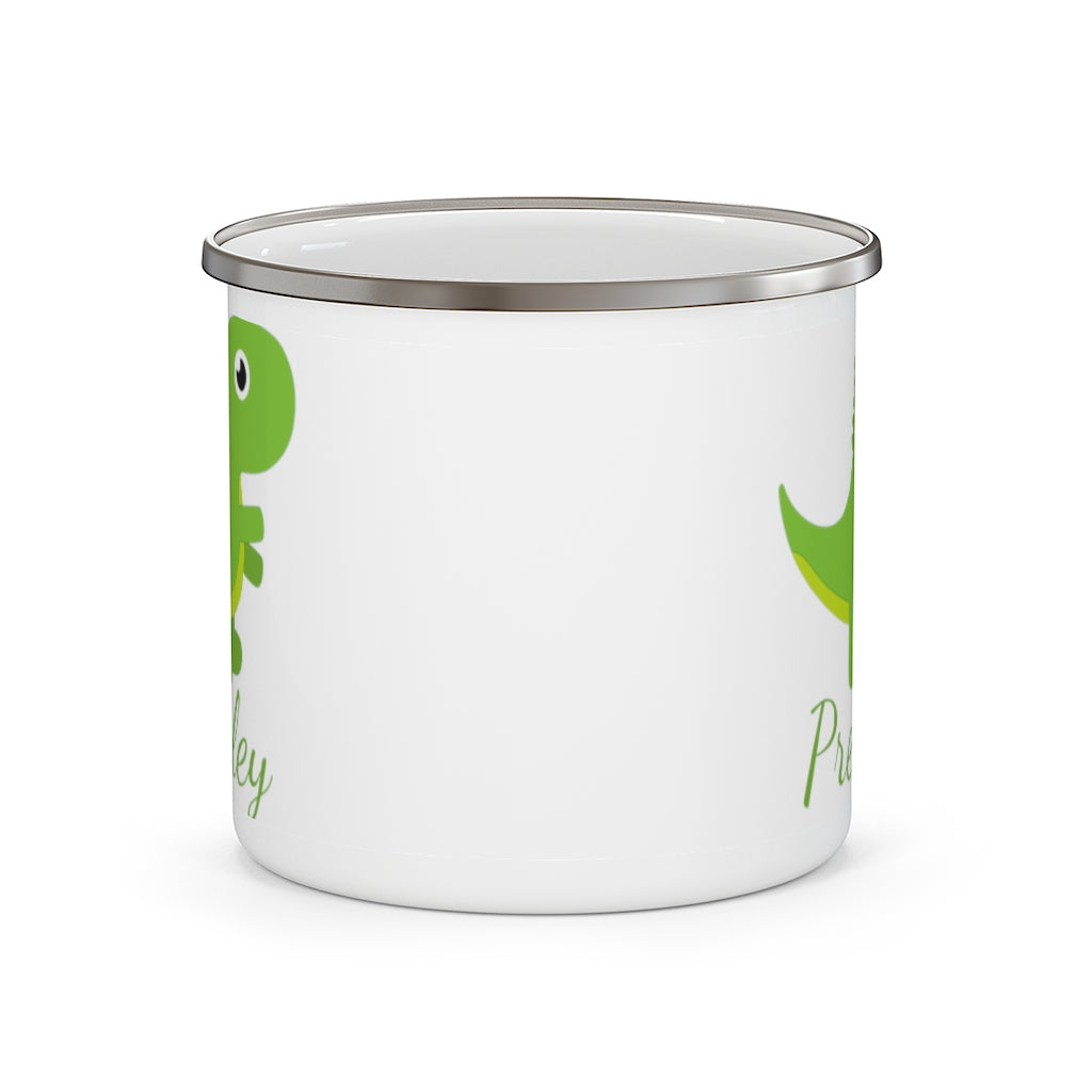 Custom Name Dinosaur Children's Enamel Campfire Mug Ⅷ
