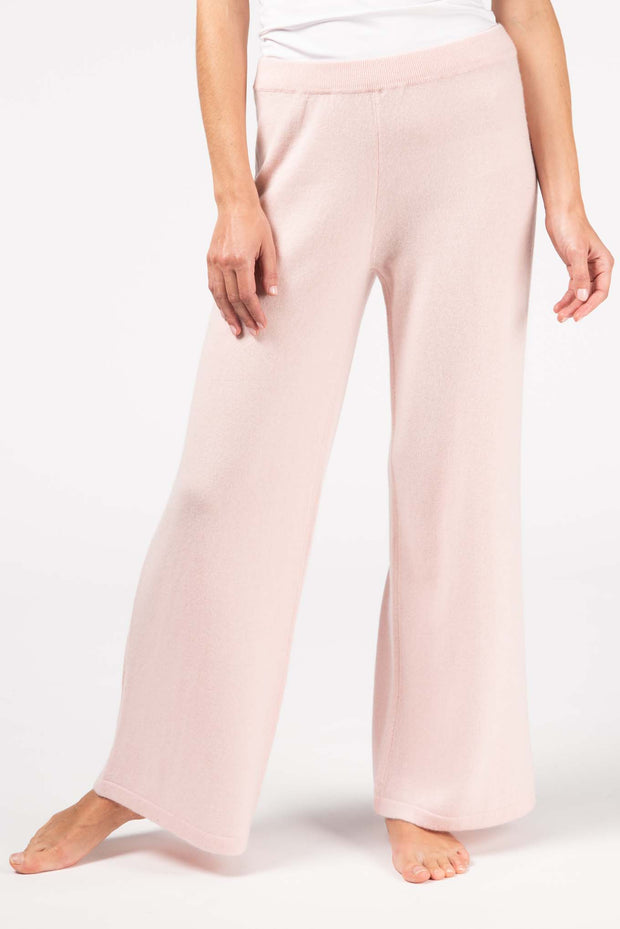 Women's Cashmere Wide  Pant rosewater -  Gobi Cashmere