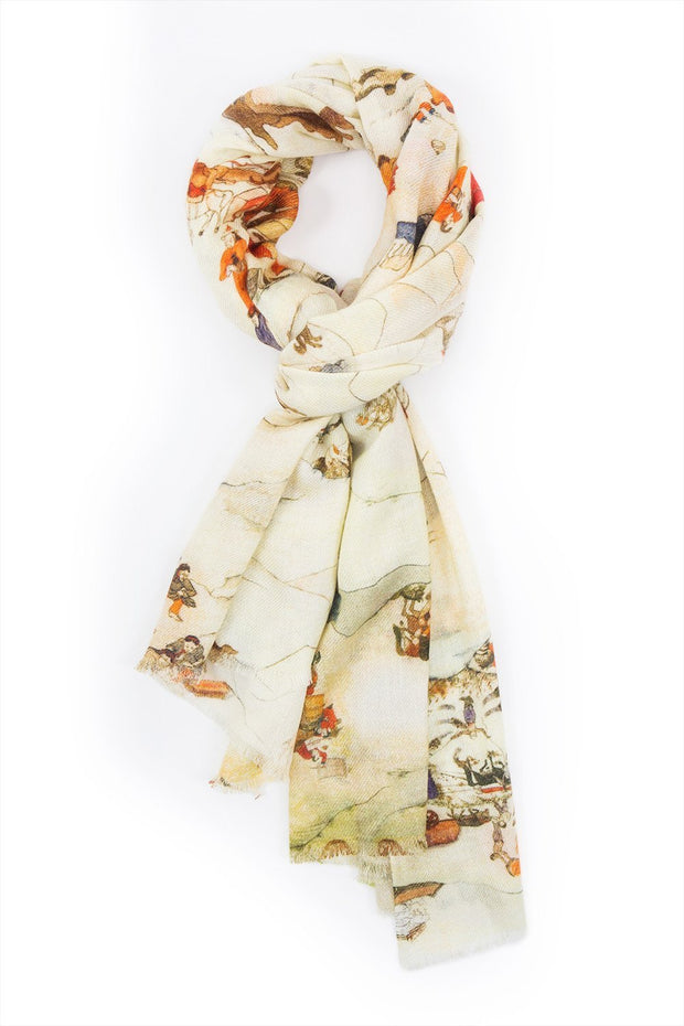 PRINTED CASHMERE SCARF
