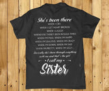 She's been there when I cry when I get heart broken back print mens t-shirt