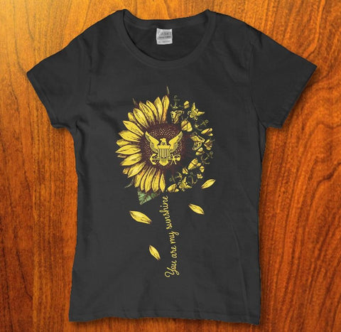 You are my sunshine sunflower womens t-shirt
