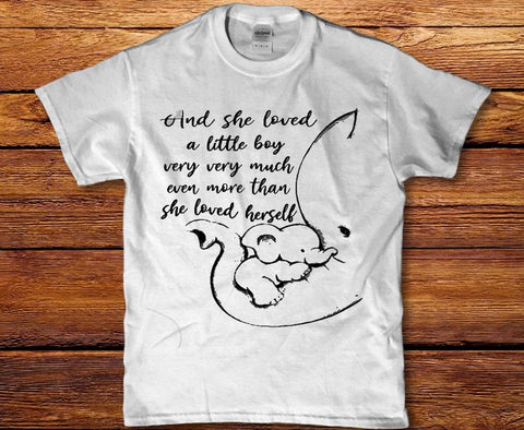 And she loved a little boy very much womens ladies t-shirt