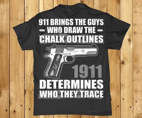 awesome 1911 determines who they trace back print Mens t-shirt