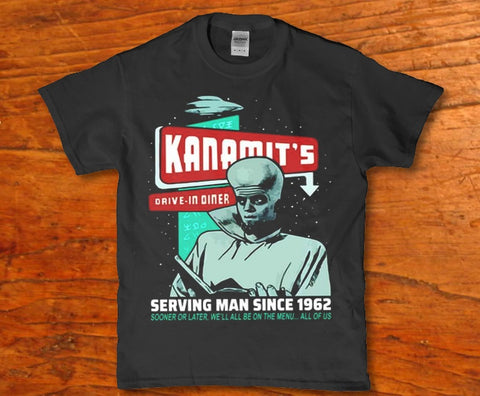 Kanamit's drive in diner - Serving Man since 1962 Unisex adult t-shirt