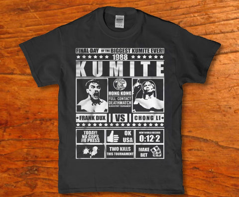 1988 Kumite -Frank Dux Vs Chong Li awesome adult unisex t-shirt