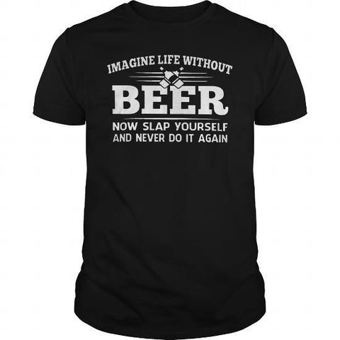 Beer imaginary awesome college drinker mens t-shirt