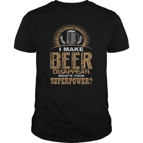 I make beer disappear 2020 version drinking mens t-shirt