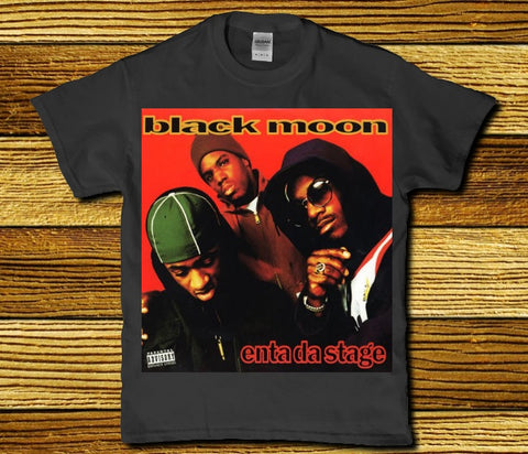 Black moon enta da stage Classic 90's Hip hop adult Men's t-shirt
