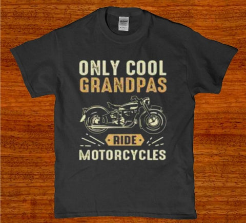 Only cool Grandpas ride Motorcycles Men's t-shirt