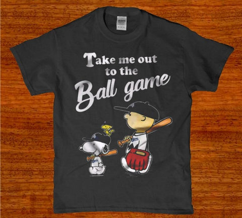 Take me out to the ball game charlie brown unisex t-shirt