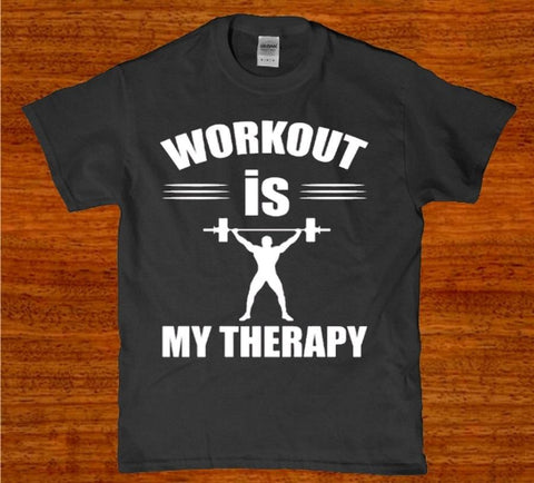 Workout is my therapy mens t-shirt