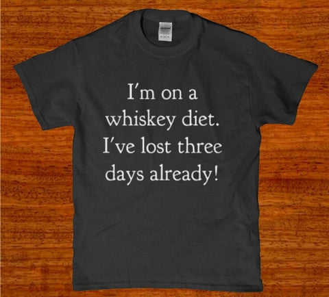 I'm on a whisk diet ive lost three days already mens t-shirt
