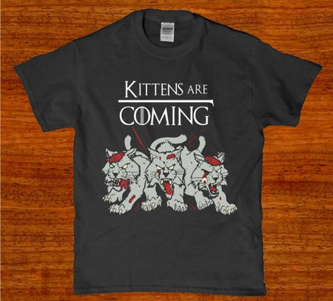 Kittens are coming demon horror funny unisex t-shirt
