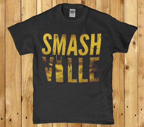Smash ville awesome mens t-shirt
