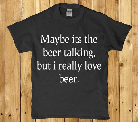 Maybe it's the beer talking but I really love beer unisex t-shirt