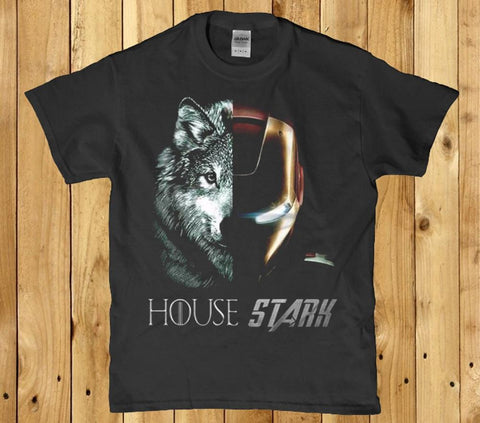 House stark wolf awesome mens t-shirt