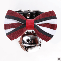 Pet Collar Bowtie with Bell for Small Cats and Dogs