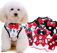 Tuxedo Vest Harness Adjustable Dog Leash Rope
