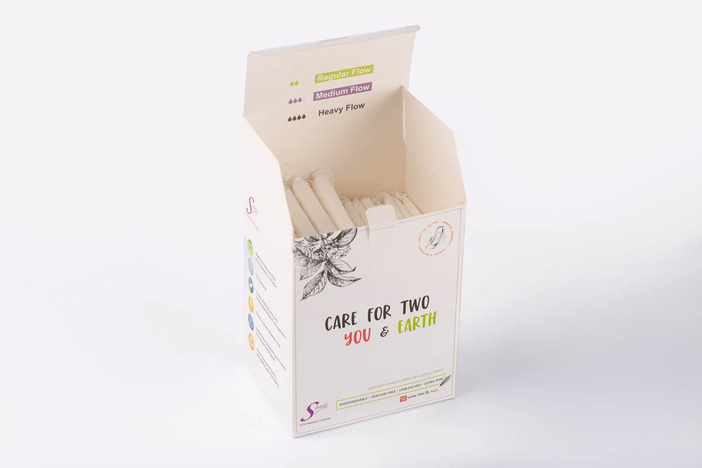 Bamboo Biodegradable Pads - Customised Pack of 12