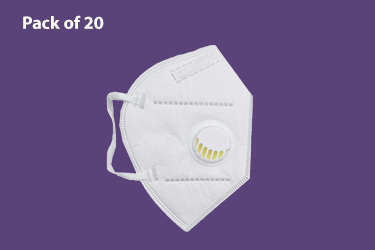 Protective Mask with valve - Pack of 20