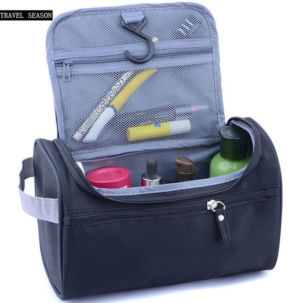 Waterproof cosmetics bag for makeup, travel, holidays, bathroom, toiletry, camping, grooming, hotel