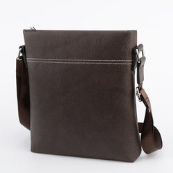 Men's Leather Shoulder Bag - Casual Business Satchel - Messenger Crossbody Bag