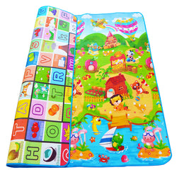 Double-sided Baby Play Mat with Puzzle, for toddlers - children Soft Floor mat