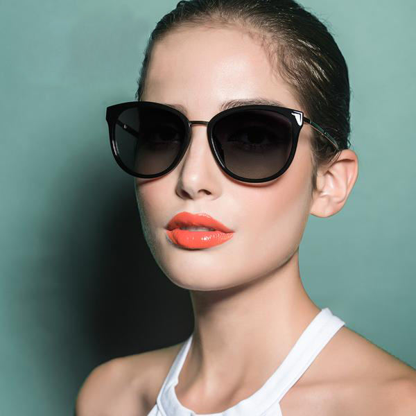 Polarized sunglasses for women - Retro Style Metal Frame