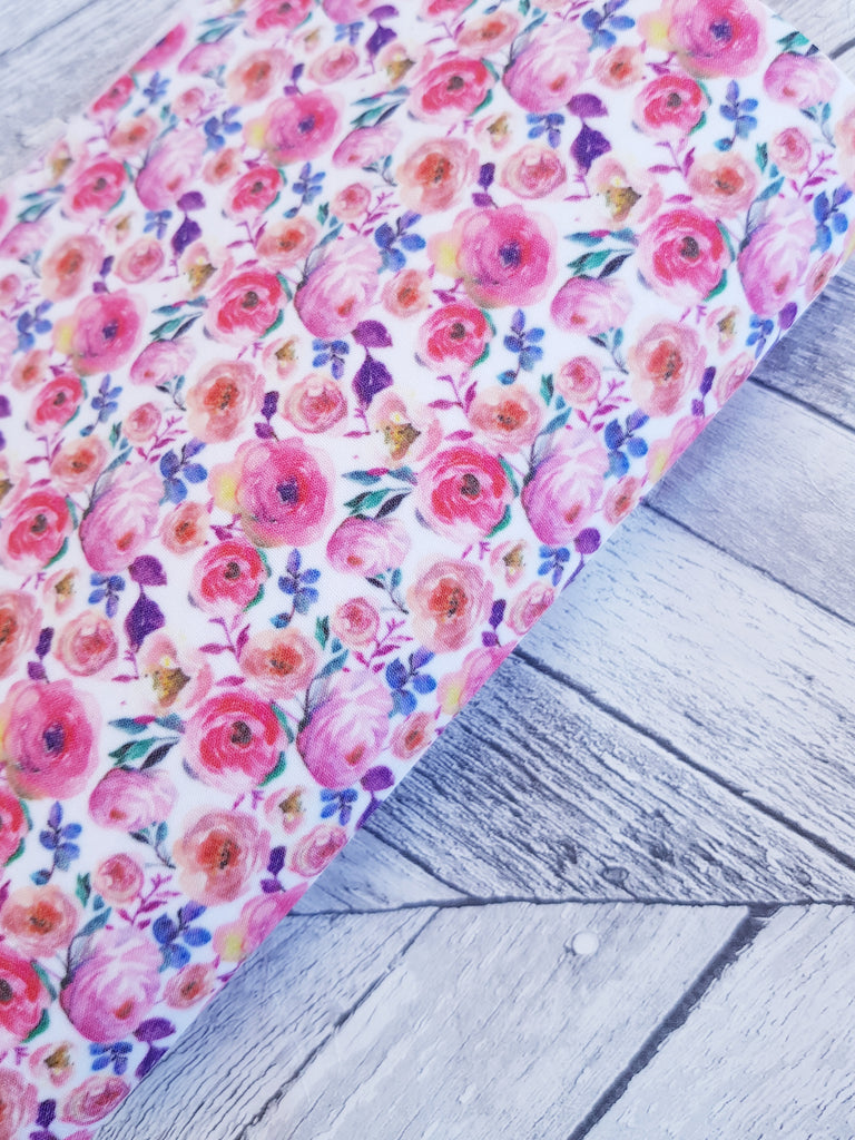 Beautiful Blooms - Felt Backed Fabric - Honey Bee Craft Store -