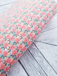 Vintage Blooms - Felt Backed Fabric - Honey Bee Craft Store -