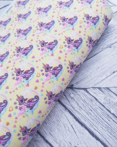 Unicorn Fairy Dragon - Felt Backed Fabric - Honey Bee Craft Store -