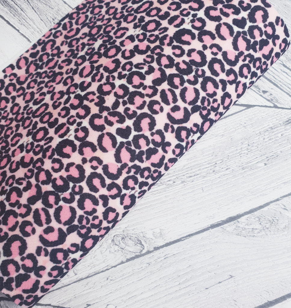 Leopard Print - Pinky Pinks - Felt Backed Fabric - Honey Bee Craft Store -