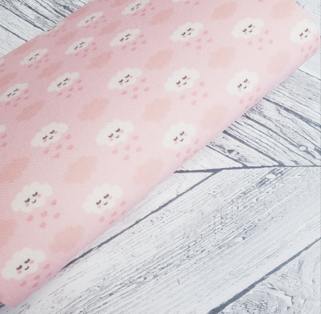 Pink Clouds - Felt Backed Fabric - Honey Bee Craft Stores -