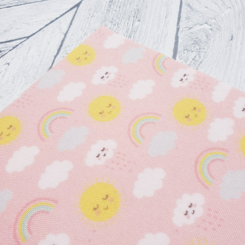 Sunshine, Clouds and Rainbows - Felt Fabric