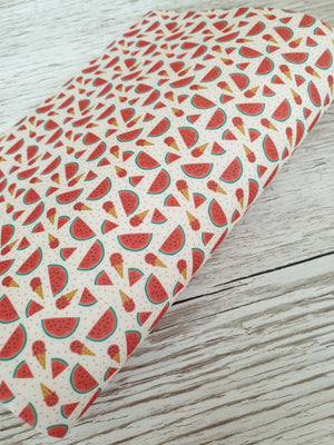 Watermelon Slushies  - Felt Backed Fabric - Honey Bee Craft Store