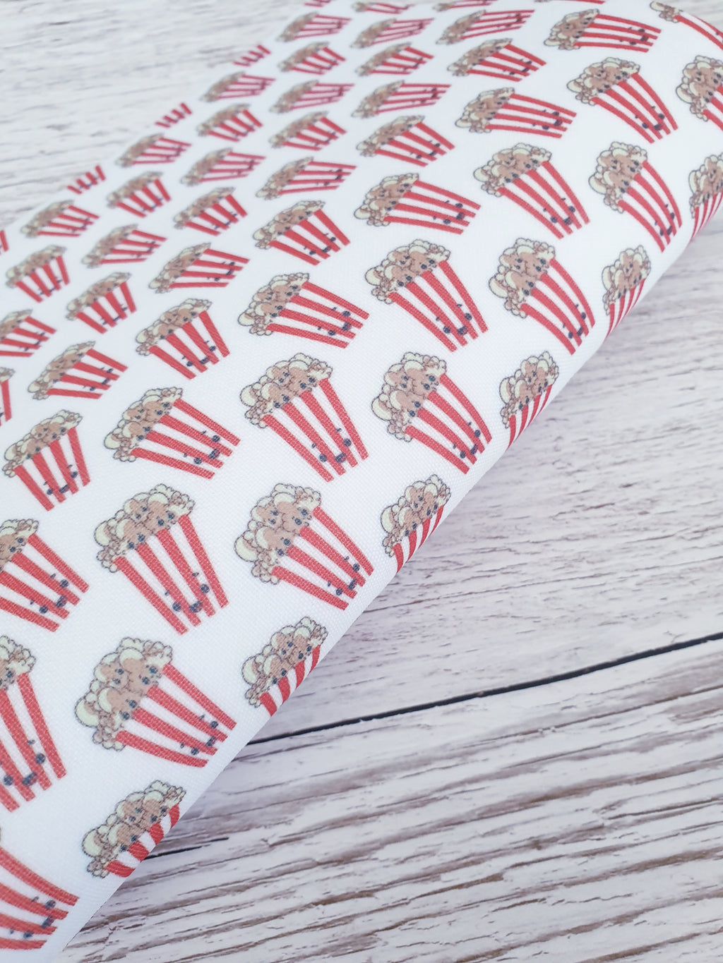 Popcorn Kawaii - Felt Backed Fabric - Honey Bee Craft Store